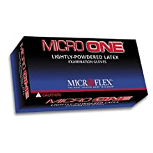 Microflex MO150L Lightly Powdered Micro-One Latex Glove Size Large, 100 Box