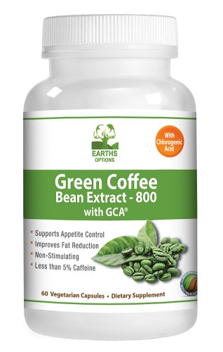 Pure Green Coffee Bean Extract 800mg With Gca 100 Natural Choice