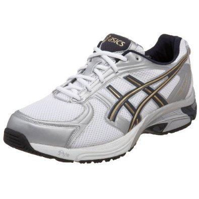 ASICS Men's GEL-4-to-8 Walking Shoe,White/Navy/Gold,7.5 D US