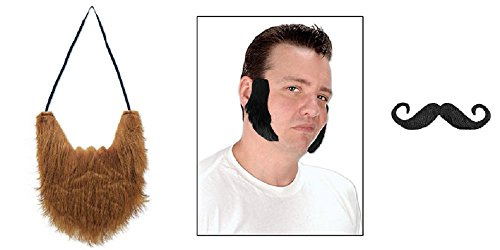 [Halloween Costume Facial Hair Accessories Beard, Mustache and Sideburns Mutton chops] (Chop Chop Halloween Costumes)