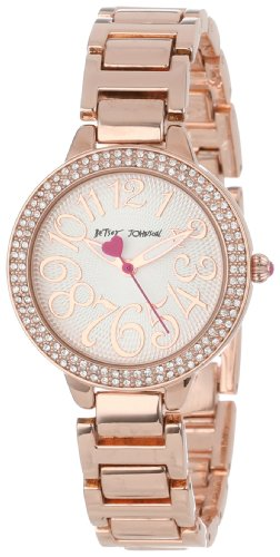 Betsey Johnson Women's BJ00235-02 Analog Rose Gold Bracelet Watch