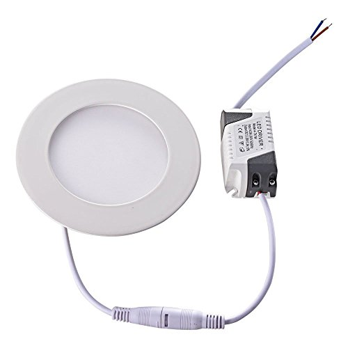 How Nice 6W Thin Led Panel 390Lm Round Ceiling Recessed Down Light Wall Lamp - Pure White