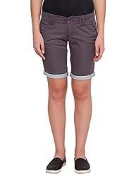 Alibi Women's Shorts(ALBR000100A_26_Grey_26)