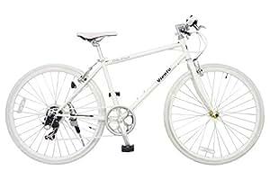ANIMATO(アニマート) クロスバイク VIENTO(ヴィエント) 700C ホワイト【SHIMANO7段変速】
