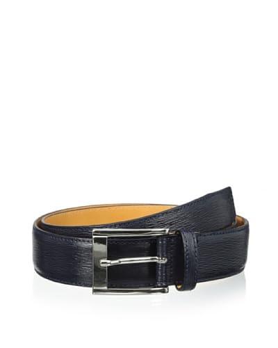 Leone Braconi Men's Minipaglia Embossed Calfskin Belt