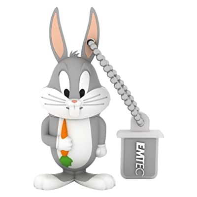 EMTEC Looney Tunes 4 GB USB 2.0 Flash Drive, Bugs Bunny