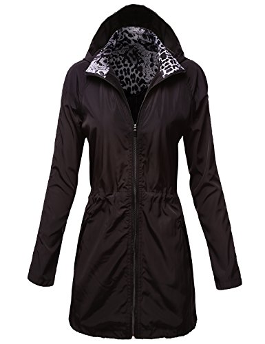 Water Resistant Lightweight Long Rain Jackets (Details Plaid Coat compare prices)