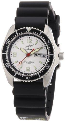 Chris Benz Men's Quartz Watch CBM.SI.KB.SW with Rubber Strap
