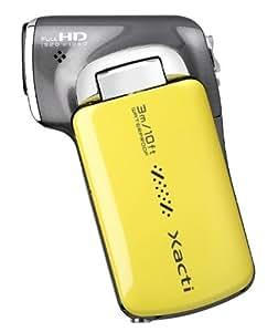 Sanyo Xacti VPC-CA100 Dual Kamera (14 Megapixel Fotoauflösung, 6,9 cm (2,7 Zoll) TFT-LC-Display, Full HD 1080i Videoauflösung, wasserdicht) Gelb