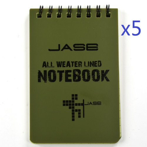 Cosmos ? Set of 5 Green Waterproof/All Weather/Shower/Aqua Notes/Notepad/Notebook (Shower Notepad compare prices)