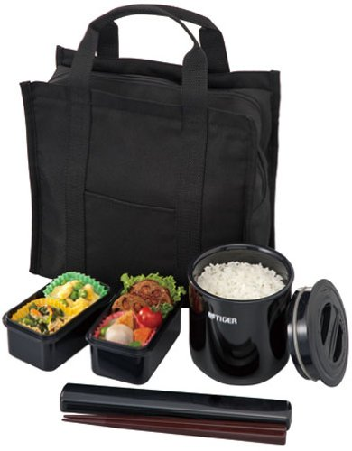 Tiger Black Lunchbox Thermos Lwy-t036-k (Men's Specification)