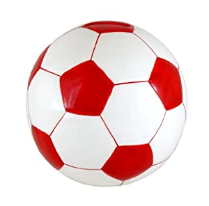 "CERAMIC 5.75"" Soccer Ball Piggy Bank - Red"