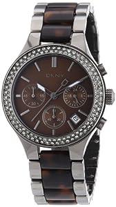 DKNY Damen-Armbanduhr Chronograph Quarz Edelstahl beschichtet NY8668