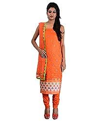 Mumtaz Sons Women's Cotton Unstitched Dress Material (MS111406B,Orange)