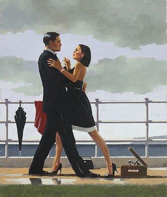'Anniversary Waltz' by Jack Vettriano - High Quality Fine Art Print (image size 48 cm W x 58 cm H)