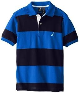 Nautica Boys 8-20 Short Sleeve Stripe Pique Polo by Nautica