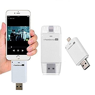 COOLNUT ® i- USB HD Drive 64 GB Dual USB Port Drive for iphone,laptop and all smartphone