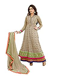 Angel Women's Anarkali Suit (Am-2_Peach_Free Size)