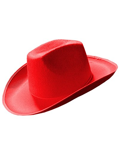 Red Country Cowboy or Cowgirl Cow Boy Felt Costume Hat