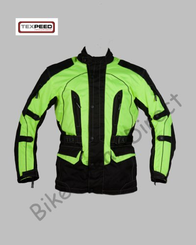 Hi-Vis Waterproof Motorcycle Textile Jacket Size XL 46