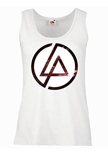 "Canotta Donna ""Linkin Park - Texture"" - 100% cotone LaMAGLIERIA, M, Bianco"