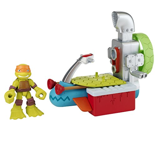 Teenage Mutant Ninja Turtles Pre-Cool Half Shell Heroes Sewer Cruiser with Michelangelo Vehicle and Figure - 1