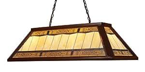 Elk 70112-4 Tiffany Game Room Lighting 4-Light Billiard Light, 18-Inch, Dark Mahogany Wood
