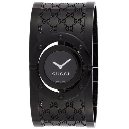 [グッチ]GUCCI 腕時計 トワール ブラック文字盤 ステンレス(BKPVD)ケース ステンレス(BKPVD)ベルト YA112431LSBLK レディース 【並行輸入品】