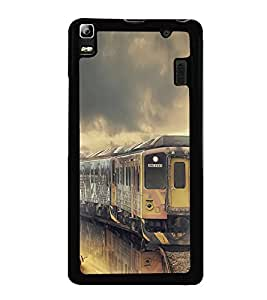 Train 2D Hard Polycarbonate Designer Back Case Cover for Lenovo A7000 :: Lenovo A7000 Plus :: Lenovo K3 Note