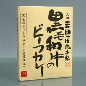 送料無料 三田屋 黒毛和牛のビーフカレー 10食