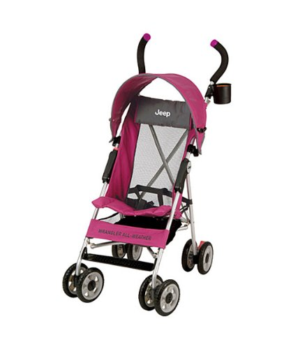 Jeep Wrangler All-Weather Umbrella Stroller Pink and Gray