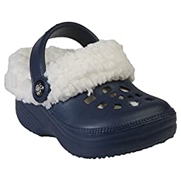 DAWGS Fleecedawgs Clog (Toddler/Little Kid), Navy/White, 10 M US Toddler
