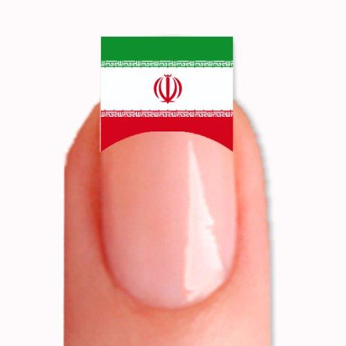 FRENCH Nailsticker Nail Tattoo Sticker WM 2014 Fussball Weltmeisterschaft WM-24 Iran