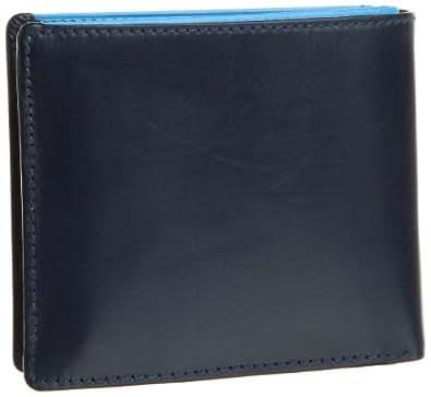 [ブリティッシュグリーン] BRITISH GREEN ダブルブライドルレザー二つ折り財布  63031 ネイビー×ブルー (ネイビー×ブルー)