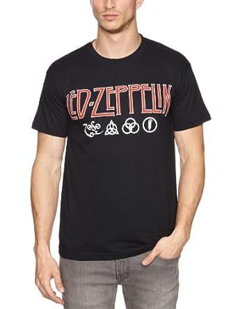 Loud Led Zeppelin Logo and Symbol Men's T-Shirt Black Medium