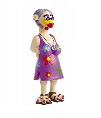 Charming Pet Products Grampa Hippie Chick Squeaky Latex Dog Toy