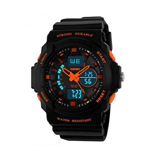 [SKMEI Digital Electronic Outdoor Wrist Sport Watch¡ª¡ªLED Digital 30M Waterproof Outside Sports Digital Wrist Watch For 10-20 Years Olds Children Teens Boys] (Old Wigs)