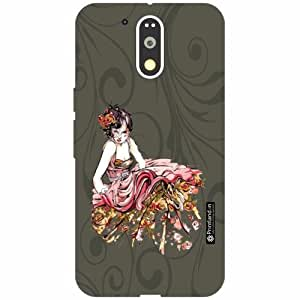 Motorola Moto G4 Plus Back Cover - Silicon Lady art Designer Cases