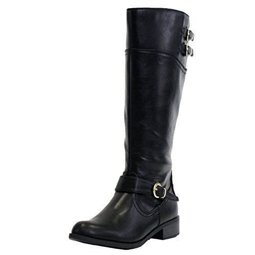 Soda Women Golf-H Boots,7 B(M) Us,Black