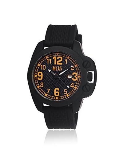 Mos Men's MOSCS106 Caracas Black/Orange Silicone Watch