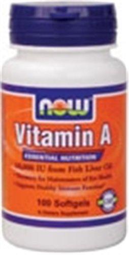 Now Foods vitamine A 10000 UI 100 Sgels
