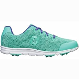 FootJoy FTJ95701-10 Medium enJoy Womens Golf Shoes, Sea Foam - 10 Medium