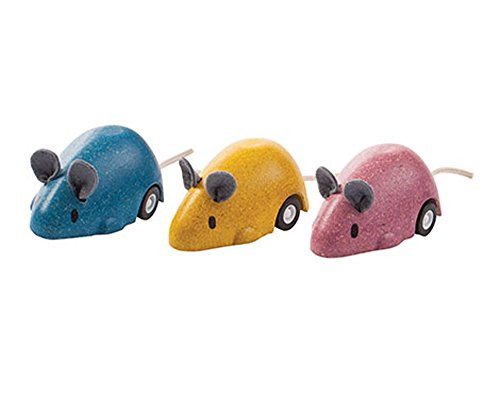 Plan Toys Pull Back Moving Mouse Set (Set of 3 Mice)