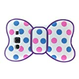 Cute 3D Bowknot Purple Frame Dot Back Protector Case for Samsung I9300 Galaxy S3