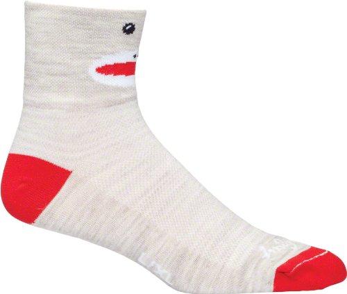 Sockguy Monkey wool socks, brown - 9-13 at 'Sock Monkeys'