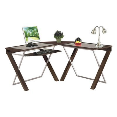 Buy Low Price Comfortable X Text L-Shaped Computer Desk (B003LLDQ7E)