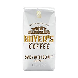 Boyer's Coffee Swiss Water Decaf, 12-Ounce Bags (Pack of 3)