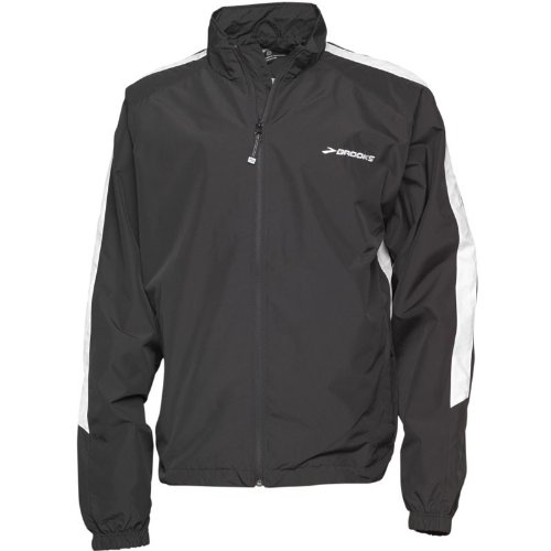 Brooks Mens Team Podium Running Jacket Black