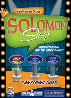CHRISTIAN COMPUTER GAMES Solomon Says: Bible Trivia Volume 1