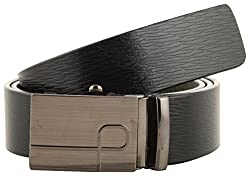 Jackblack Men's Leather Belt (SEVP004, Black, 32)